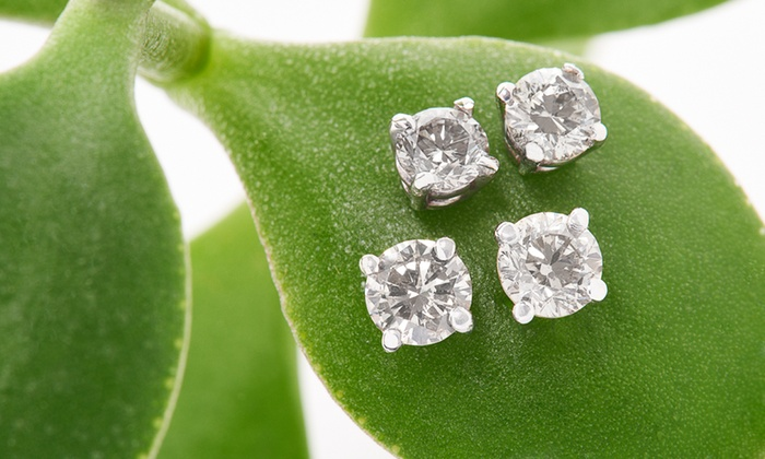 Onna Ehrlich: 1/2- or 3/4-Carat Onna Ehrlich Diamond and 14-Karat White Gold Stud Earrings (Up to 65% Off). Free Shipping and Returns.