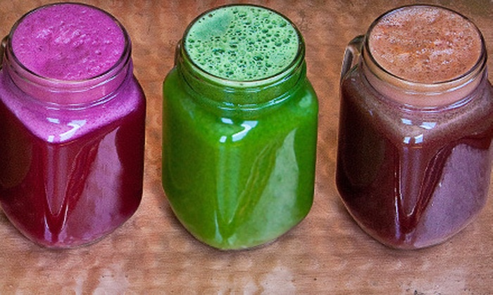 Juicey Lucy's - Anza Vista: Two Large Juices or One-, Three-, or Five-Day Juice Cleanse from Juicey Lucy's (Up to Half Off)
