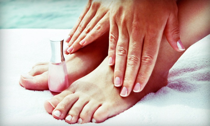 Americana Nail Company - Livingston - McNaughten: Acrylic Nails or One or Three Mani-Pedis at Americana Nail Company (Up to 61% Off)