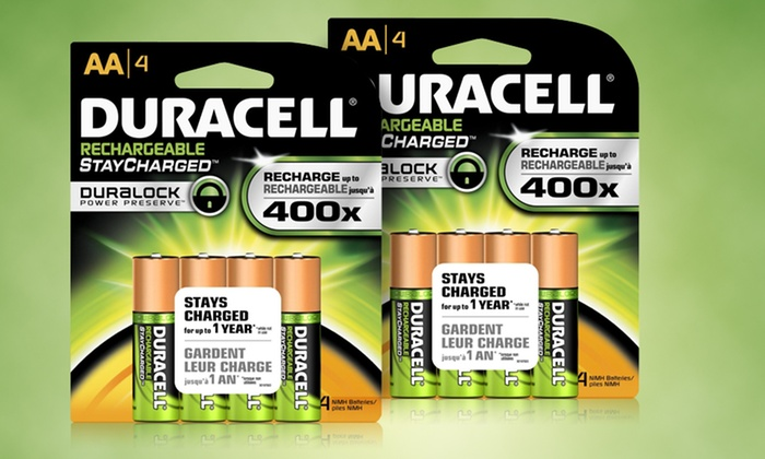 Duracell Stay-Charged Rechargeable AA Batteries: Eight-Pack of Duracell Stay-Charged Rechargeable AA Batteries. Free Returns.