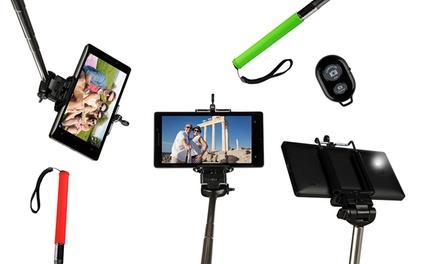 Palo de selfie inalámbrico y universal con mando remoto