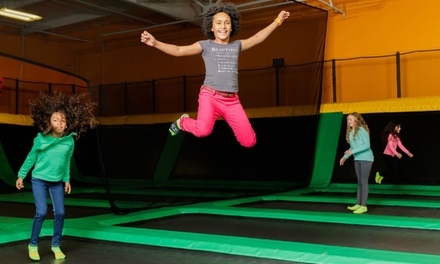 Two 90- or 120-Minute Jump Passes or Neon Jump Night at Rockin' Jump (Up to 40% Off)