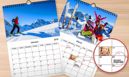 Personalised A3 Wall Calendar