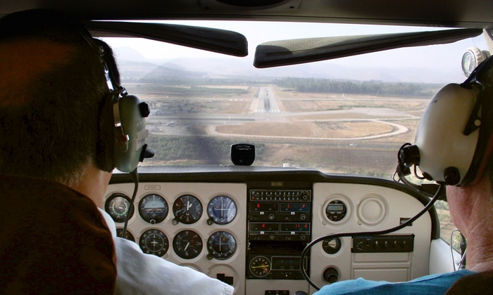 Santa Monica Aviation - Sunset Park: Aerial Tour of LA or Long Beach for Two from Santa Monica Aviation (Up to 60% Off)