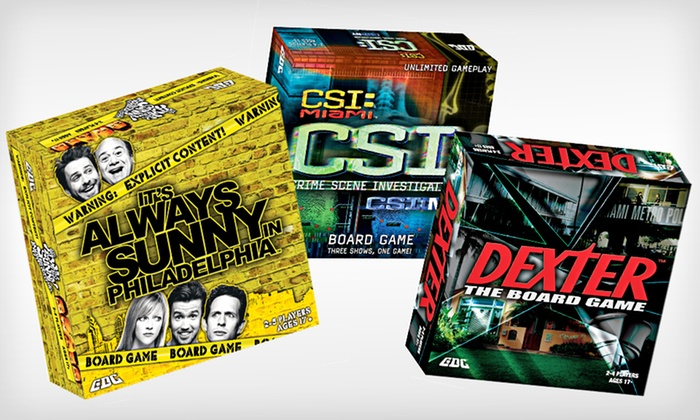 TV-Show-Themed Board Games: $25 for a TV-Show-Themed Board Game ($34.99 List Price). Three Options Available. Free Shipping and Free Returns.