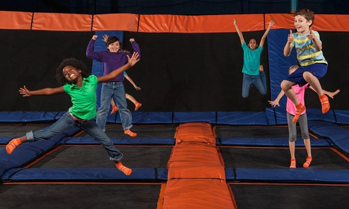 Sky Zone Indoor Trampoline Park - Pineville: Jump Sessions, SkyFit, or Party for 10 at Sky Zone Indoor Trampoline Park (Up to 46% Off). Four Options.