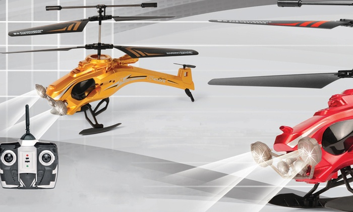 Dragonfly Remote-Controlled Helicopter: Dragonfly Remote-Controlled Helicopter in Gold or Red. Free Returns.