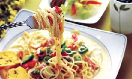 $20 for Two Groupons, Each Good for $20 Worth of Italian Dinner Cuisine at Café Pasta + Grille ($40 Total Value)