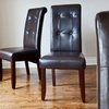 $134.99 for Set of 2 Faux-Leather Chairs