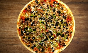 Cajun Pizza Place: Cajun Pizza for Takeout or Dining In at Cajun Pizza Place (Up to 35% Off). Three Options Available.