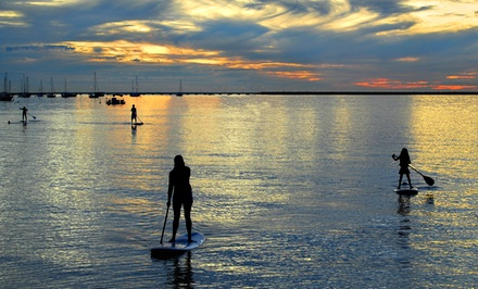 Three-Hour Standup-Paddleboard Rental with Wetsuits for One or Two at A-Frame Surf (Up to 51% Off)
