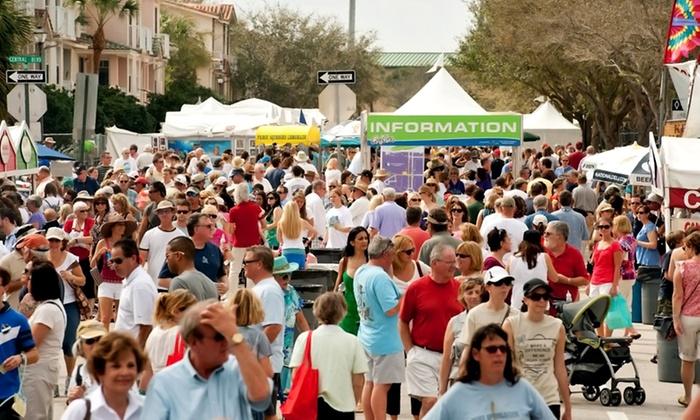 ArtiGras Fine Arts Festival - Abacoa Town Center: Two or Four Single-Day Admissions to ArtiGras Fine Arts Festival (45% Off)