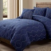 Four-Piece Embroidered Comforter Sets