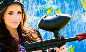 Paintball International: All-Day Paintball Package with Equipment Rental for Up to 4, 6, or 12 at Paintball International (Up to 85% Off)