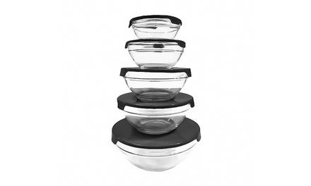 10-Piece Glass Food Storage Set
