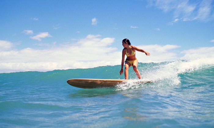 Kai Sallas' Pro Surf School Hawaii  - Waikiki: Surfboard or Standup Paddleboard Rental for One or Two at Kai Sallas' Pro Surf School Hawaii (Up to 54% Off)