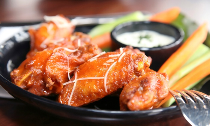 More Steak Than Philly - Baldwin: 50 Wings with Large Curly Fry or 100 Wings with Two Large Curly Fries at More Steak Than Philly (Up to 57% Off)