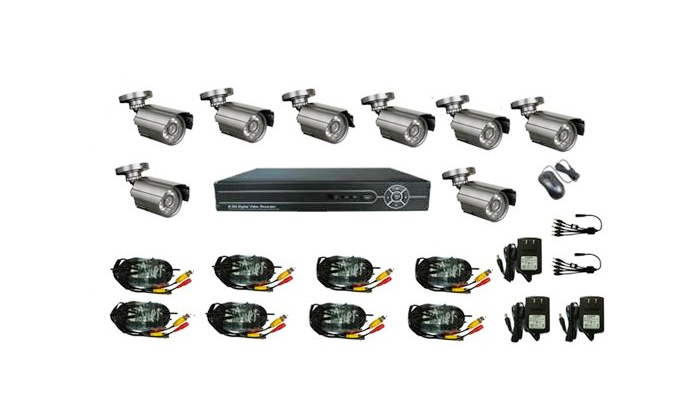 Groupon Goods: DVR CCTV Security Camera Kit for R2999 Including Delivery (33% Off)