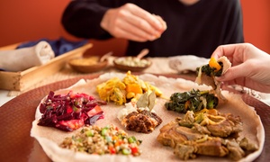 Fasika Ethiopian Restaurant: $7 for an Ethiopian Food for Two or More People at Fasika Ethiopian Restaurant ($20 Value)