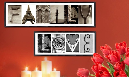 Custom letter art imagine letters canada groupon for Custom letter art groupon