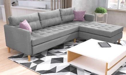 copenhagen corner sofa groupon goods. Black Bedroom Furniture Sets. Home Design Ideas