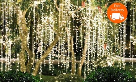 $19.95 LED Christmas Outdoor Curtain Fairy Lights