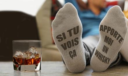 """1, 2 of 4 paar sokken """"Bring Me Whisky"""""""