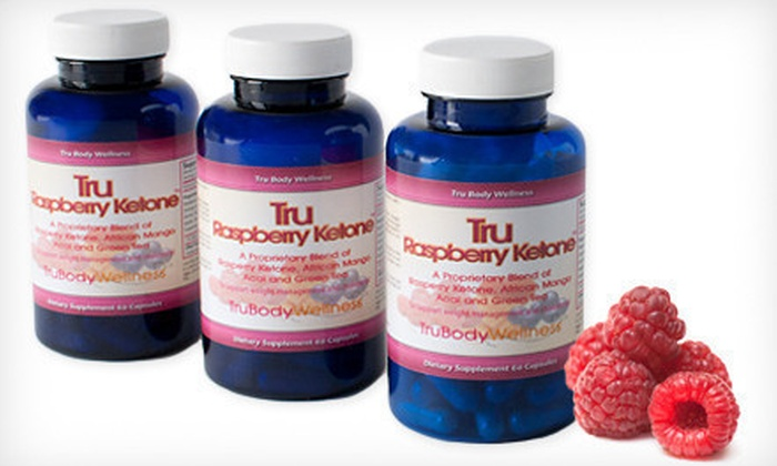 Tru Raspberry Ketone Supplements: 30-, 60- or 90-Day Supply of Tru Raspberry Ketone Weight-Loss Supplements (Up to 72% Off). Free Shipping.