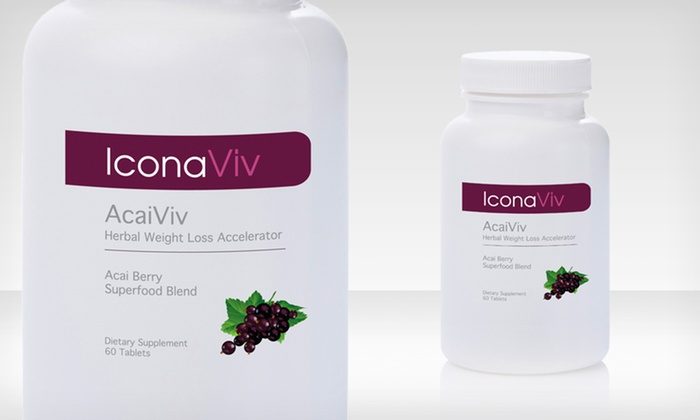2-Pack of IconaViv AcaiViv Supplements: 2-Pack of IconaViv AcaiViv Supplements