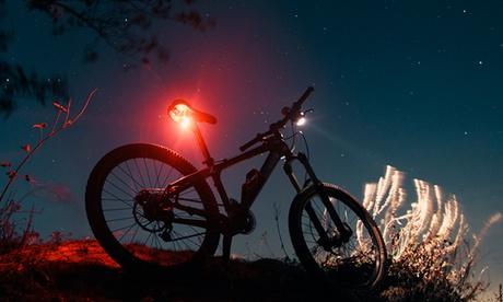 1 o 2 luces de bicicleta roja con recarga USB Rolson 3 SMD