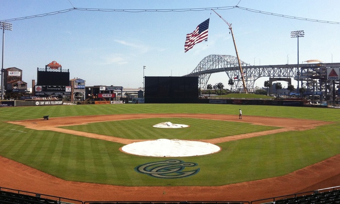 Corpus Christi Hooks - Whataburger Field: Corpus Christi Hooks Baseball Game for Two or Four at Whataburger Field (Up to 53% Off)