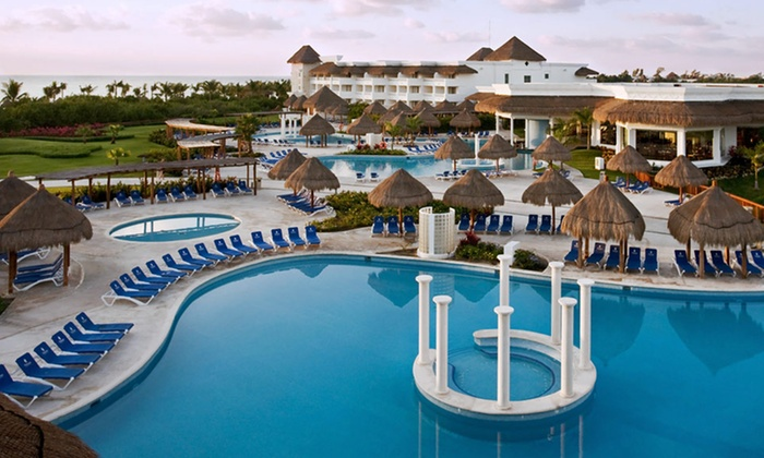 All-Inclusive Grand Yucatan Princess Suites Stay with Airfare - Playa del Carmen: 6- or 7-Night All-Inclusive Vacation with Airfare from Vacation Express. Priced per Person Based on Double Occupancy.