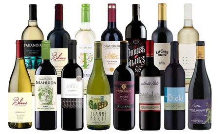 15-Bottle Pack of Premium Wines, Choice of Red, White, or Mixed from WineOnSale (76% Off)