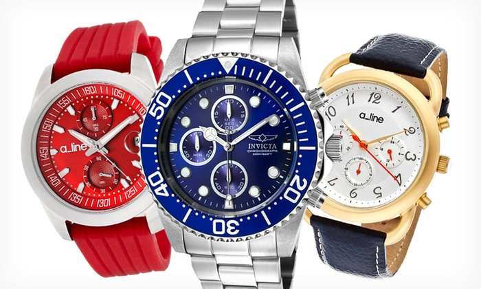 Designer Chronograph Watches: Designer Chronograph Watch (Up to 91% Off). 16 Options Available from Multiple Brands.