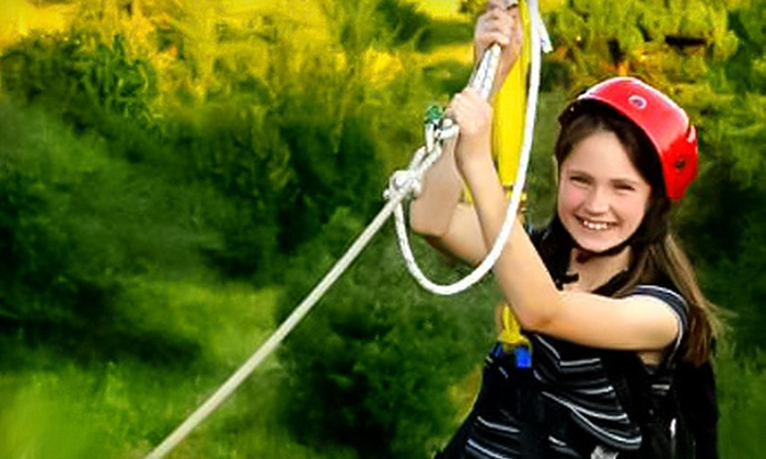 Chicopee Tube Park - Centreville Chicopee: Three Zipline Rides for Two or Four at Chicopee Tube Park (Half Off)