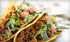 Fuego Tacos and Fuego Cityscape - Multiple Locations: $6 for Two Groupons, Each Good for $10 Worth of Casual Latin Cuisine and Drinks at Fuego Tacos