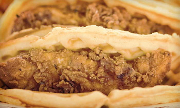 Lucky J's Chicken & Waffles - Brentwood: $10 for a Waffle-Taco Meal for Two with Sides and Drinks at Lucky J's Chicken & Waffles ($19.98 Value)