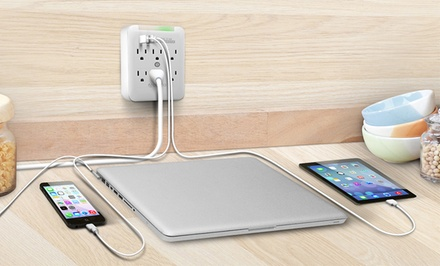 Aduro 3- or 6-Outlet Surge Protector and Dual-USB Multi-Charging Station from $12.99–$14.99