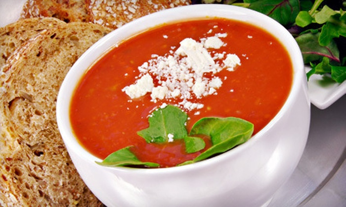 What a Crock! Homemade Soups… - Multiple Locations: $10 for a Soup Meal for Two at What a Crock! Homemade Soups… (Up to $21 Value)