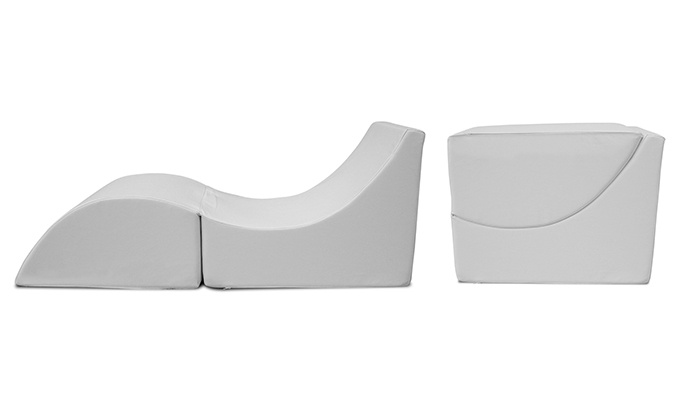 Misure Pouf.Pouf Chaise Longue In Ecopelle Groupon Goods