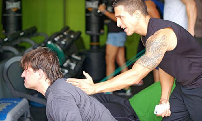 Bodytek Fitness - Multiple Locations: 8 or 12 Group Personal-Training Classes at Bodytek Fitness (Up to 74% Off)