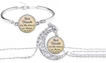 Best Friends Are The Sisters We Choose Bracelet or Necklace