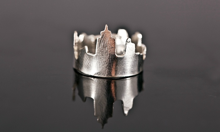 Sterling Silver NYC Skyline Ring: Sterling Silver We Built This City NYC Skyline Ring