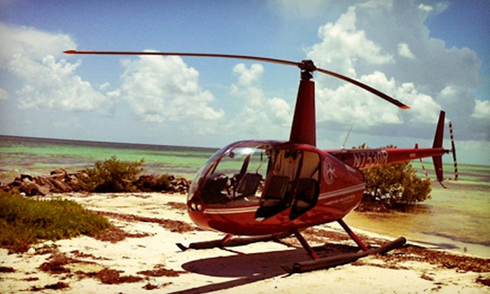 Timberview Helicopters - Key West: 6- or 12-Mile Helicopter Flight for Up to Three from Timberview Helicopters (Up to 51% Off)