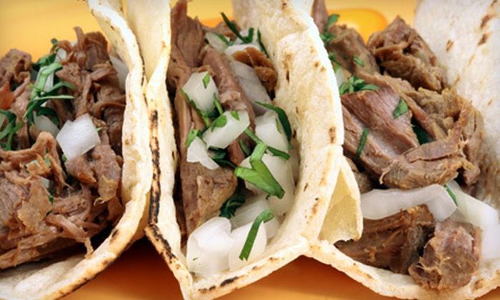 Big Juan's tacos y burros - Multiple Locations: 10 Tacos or $8 for $16 Worth of Mexican Food at Big Juan's tacos y burros