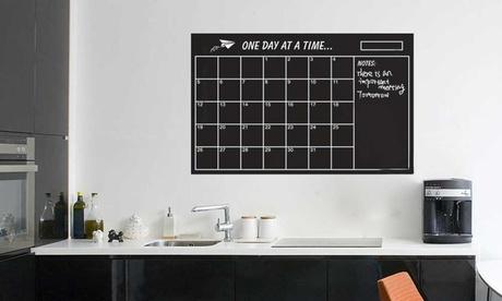 One or Two Vinyl Blackboard Calendar Organisers with Chalks
