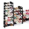 Free-Standing 10-Tier Stackable Shoe Rack