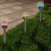 Set of 4 of Color-Changing Glass Globe Outdoor Solar Lights