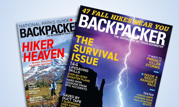 1-Year, 9-Issue Subscription to Backpacker Magazine: 1-Year, 9-Issue Subscription to Backpacker Magazine