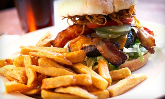 Nick's Sports Grill and Lounge - Lubbock: Burgers, Pizza, and Pub Food at Nick's Sports Grill and Lounge (53% Off). Two Options Available.